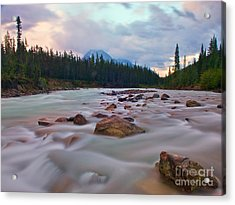Whirlpool River Acrylic Print by James Steinberg and Photo Researchers