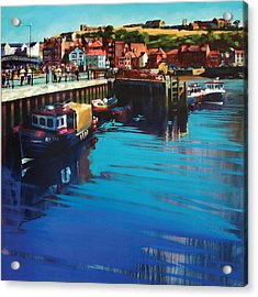 Whitby New Quay Acrylic Print by Neil McBride