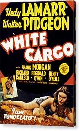White Cargo, Hedy Lamarr, Richard Acrylic Print by Everett