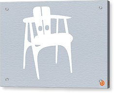 White Chair Acrylic Print by Naxart Studio