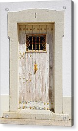 White Door Acrylic Print by Carlos Caetano