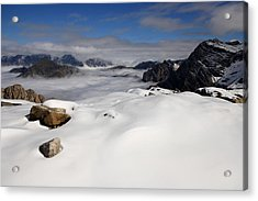 White Sea Acrylic Print by Frederic Vigne