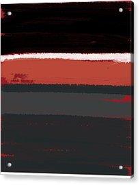 White Stripe Acrylic Print by Naxart Studio
