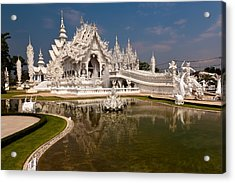 White Temple Acrylic Print by Adrian Evans