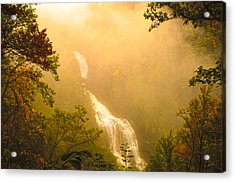 Whitewater Falls In The Fog Acrylic Print by Randall Branham
