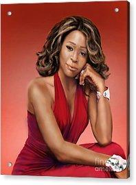 Whitney Houston Acrylic Print by Reggie Duffie