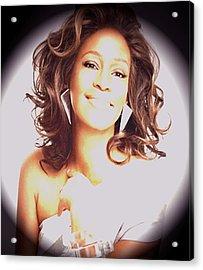 Whitney Houston Song Bird No. 3 Acrylic Print by De Beall