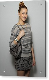 Whitney Port In Attendance For Rebecca Acrylic Print by Everett