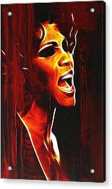 Whitneys Tears Acrylic Print by Stefan Kuhn