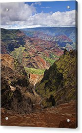 Wiamea Depth Acrylic Print by Mike  Dawson