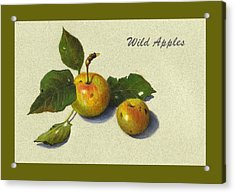 Wild Apples And Leaves Acrylic Print by Joyce Geleynse