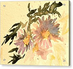 Wild Asters Aged Look Acrylic Print by Beverley Harper Tinsley