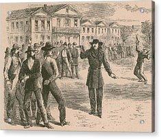 Wild Bill Hickok Was A Gunfighter Acrylic Print by Everett