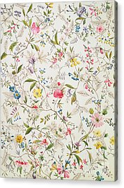 Wild Flowers Design For Silk Material Acrylic Print by William Kilburn