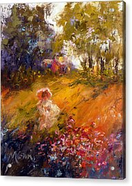 Wildflowers Acrylic Print by Marie Green