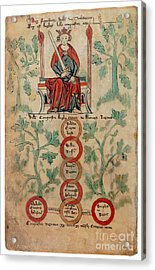 William The Conqueror Family Tree Acrylic Print by Photo Researchers