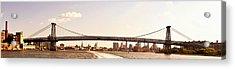 Williamsburg Bridge And The New York City Skyline Panorama Acrylic Print by Vivienne Gucwa