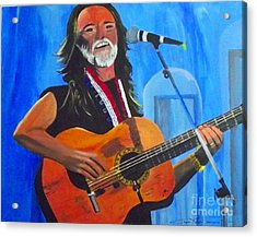 Willie Nelson Acrylic Print by Jayne Kerr