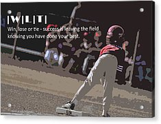 Win Lose Tie 2a Acrylic Print by Peter  McIntosh