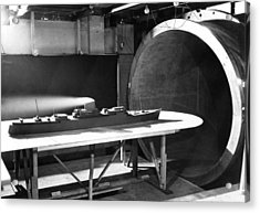 Wind Tunnel Ship Testing, 1952 Acrylic Print by National Physical Laboratory (c) Crown Copyright