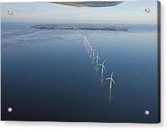 Wind Turbines Provide Energy Acrylic Print by Andrew Henderson