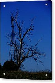 Windmill Blue Acrylic Print by Todd Sherlock