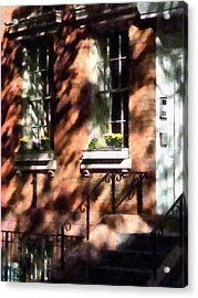 Window Boxes Greenwich Village Acrylic Print by Susan Savad