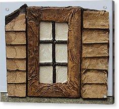 Window Acrylic Print by Steve  Hester