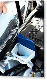 Windshield Cleaning Fluid Acrylic Print by Photo Researchers
