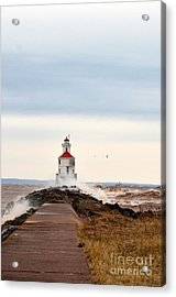 Windy Point Acrylic Print by Whispering Feather Gallery