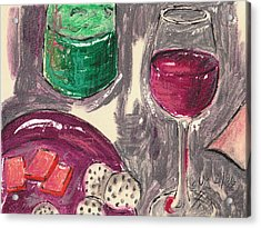 Wine And Cheese Acrylic Print by Suzanne Blender