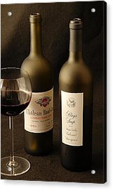 Wine Bottles Acrylic Print by David Campione