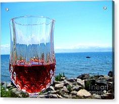 Wine By The Water Acrylic Print by Deborah MacQuarrie-Haig