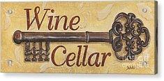 Wine Cellar Acrylic Print by Debbie DeWitt