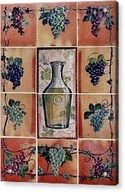Wine Grape Mural Acrylic Print by Andrew Drozdowicz