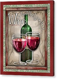 Wine Poetry Acrylic Print by Sharon Marcella Marston