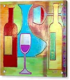 Wine Tasting Acrylic Print by Char Swift