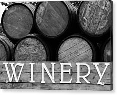 Winery  Acrylic Print by Meagan  Visser