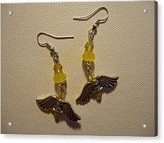 Wings Of An Angel Earrings Acrylic Print by Jenna Green
