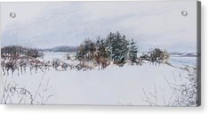Winter In Ipswich Ma Acrylic Print by Sandy Spring