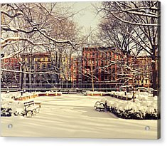 Winter - New York City Acrylic Print by Vivienne Gucwa