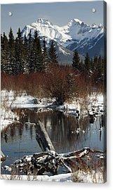 Winter Over Vermilion Lake, Banff Acrylic Print by Michael Interisano