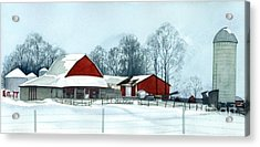 Winter Respite In The Heartland Acrylic Print by Barbara Jewell