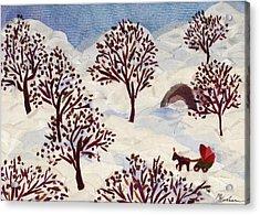 Winter Ride Acrylic Print by Marina Gershman