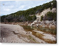 Winter River Acrylic Print by Lisa Holmgreen