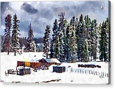 Winter Seclusion Acrylic Print by Jeff Kolker