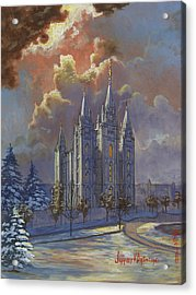 Winter Solace Acrylic Print by Jeff Brimley