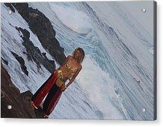 Winter Swell Hookipa 2010 Acrylic Print by Giorgia Piekarski