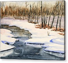 Winters Delight Acrylic Print by Kristine Plum
