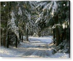 Winter's Tranquility Acrylic Print by Debra Straub